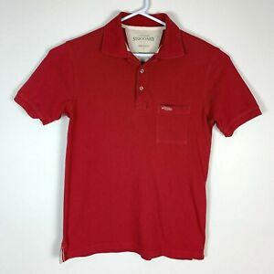 RM-Williams-Stockyard-Red-Polo-Shirt-Size-Men-039-s-Small