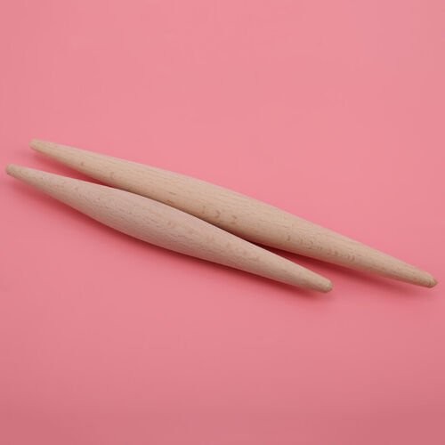 Household Non Stick Long Wooden Noodles Rolling Pin Fondant Cake Baking Tools D