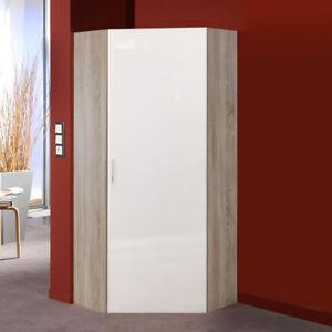 eckschrank malta kleiderschrank schrank hochglanz lack wei und eiche s gerau 80 ebay. Black Bedroom Furniture Sets. Home Design Ideas
