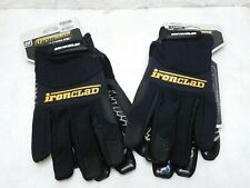 2 Pairs Ironclad Box Handler Gloves Black Size Large Silicon Fused Palm Bhg 04 L