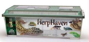 lee herphaven breeder box reptile snake lizard gecko frog cage enclosure large ebay. Black Bedroom Furniture Sets. Home Design Ideas