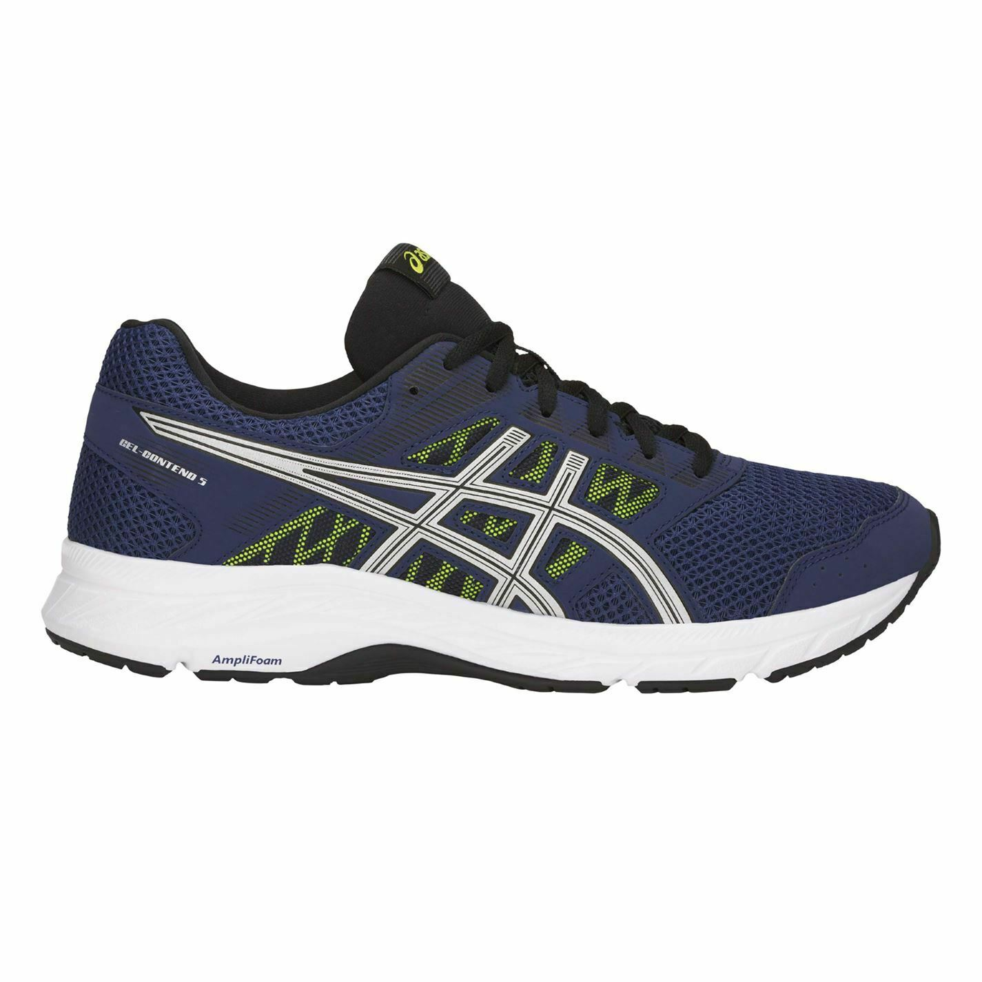 Asics Mens Gel Contend 5 Lace Up Trainers Sports Sports Sports Running schuhe Runners c1eb0f