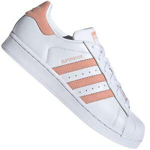 Adidas Originals Superstar W Femmes-Sneaker Baskets Chaussures Blanc Rose