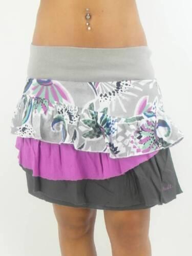 O/'Neill Rock Skirt Shark Bay grau lila Gummibund Rüschen