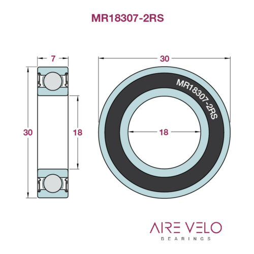 Vélo MR18307-2RS Roulement 18 x 30 x 7 MR18307LLB, MR30187-2RS