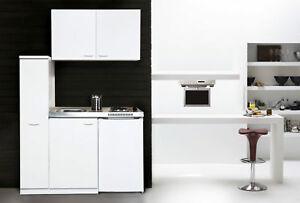 Cucina Mini Blocco Angolo Cottura Pantryküche 130 Cm Bianco Respekta ...