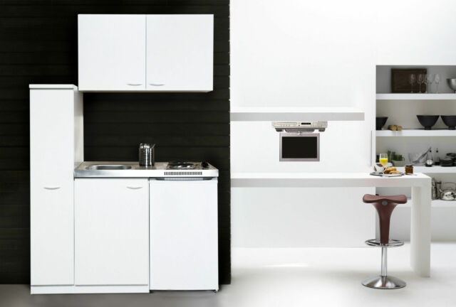 Respekta Mini cucina singola angolo cottura 130 cm Bianco | eBay