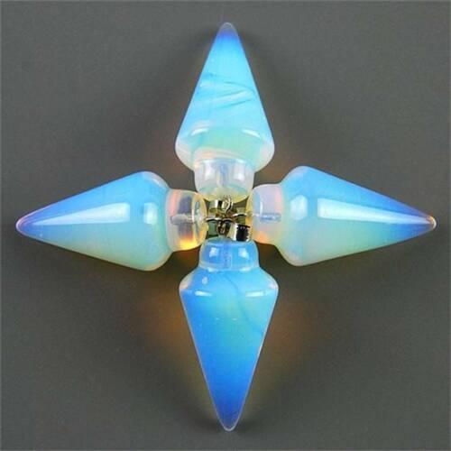 Wholesale 4pcs Charming Carved Mixed Gremstone Pendulum Pendant Beads LYBC45