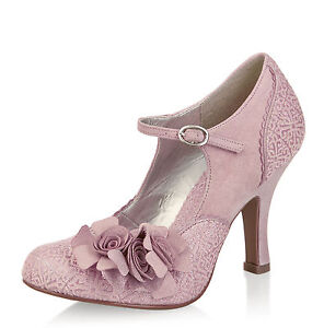 Dusky Pink Shoes With Silver Heel