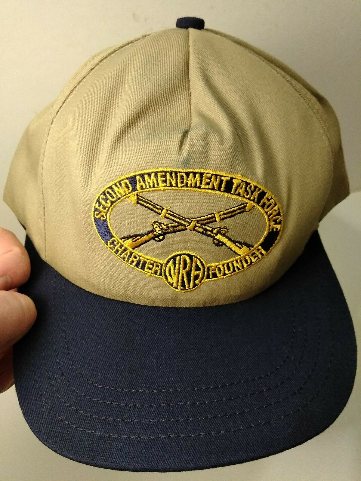 Second Force Amendment Task Force Second Charter NRA Founder Hat Beige 2 MADE IN USA 85d788