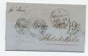 1854-Glasgow-to-Philadelphia-transatlantic-stampless-H-584