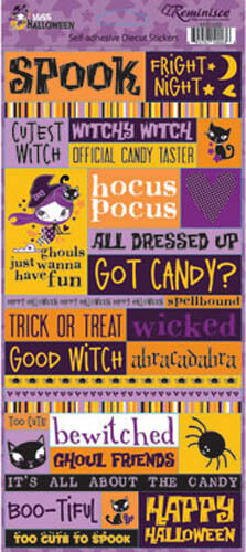 Reminisce MISS HALLOWEEN QUOTE Stickers Scrapbooking Cardmaking Paper Crafting