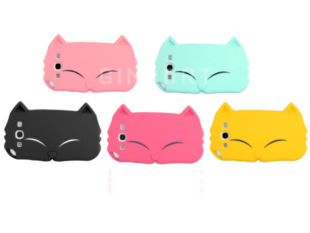 Cute Cartoon Cat Animal Silicone Phone Case Cover For Samsung Galaxy S3 i9300
