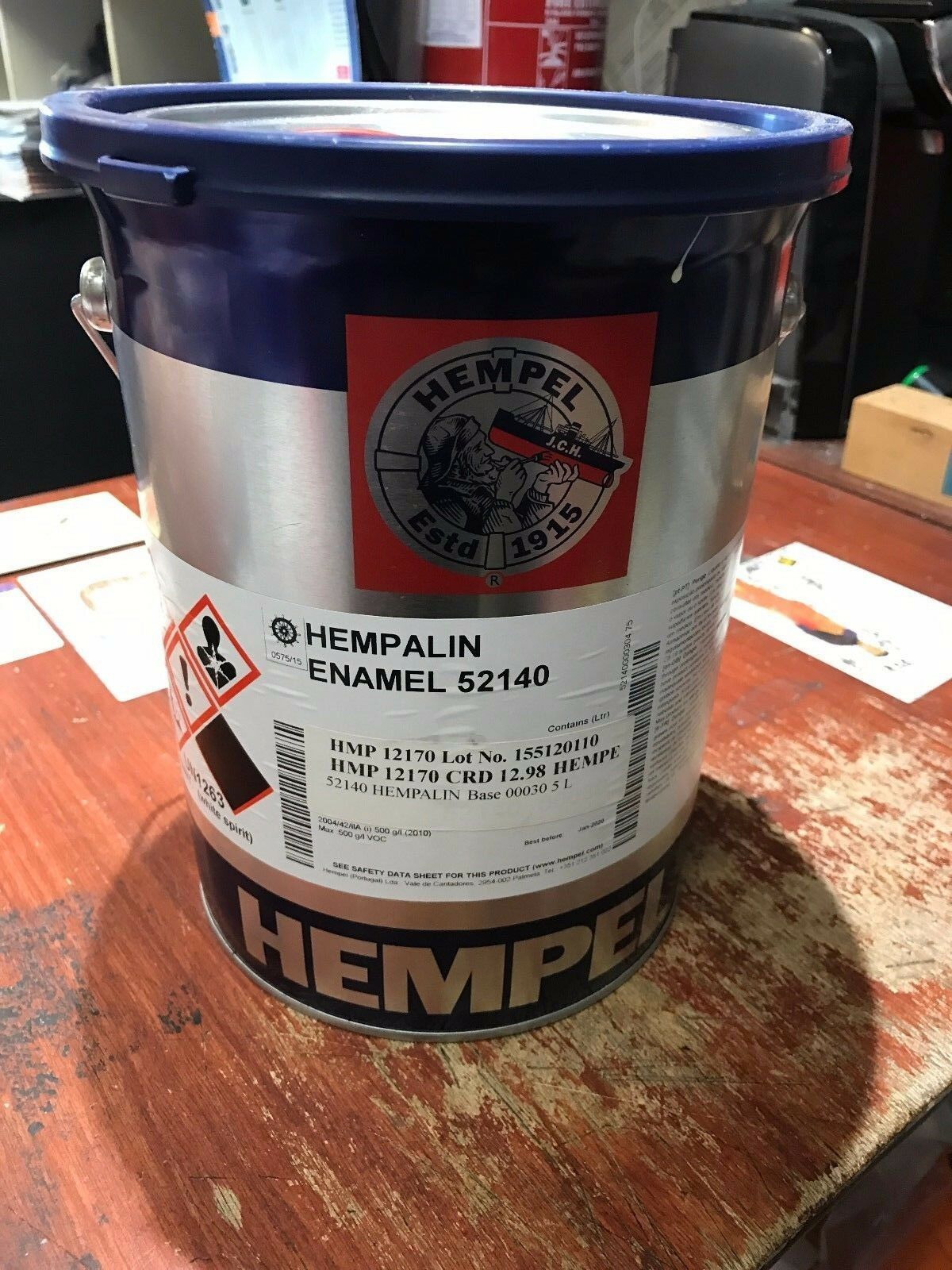 Hempel HEMPALIN ENAMEL 5 Ltr BOAT  PAINT YACHT GREY 12170 PAINTS AND COATING