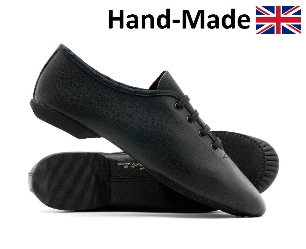 Black Leather Split Sole Dance Stage Jive Cerco Practice Jazz Shoes By Katz