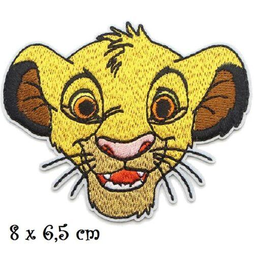 TÊTE ROI LION ** 8 x 6,5 cm ** APPLIQUE BRODÉE THERMOCOLLANTE ÉCUSSON PATCH
