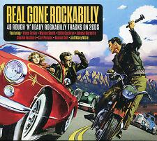 REAL GONE ROCKABILLY - 2 CD BOX SET - 40 ROUGH 'N' READY TRACKS, BOP HOP & MORE