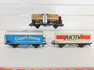AQ716-0,5# 3x Märklin H0/AC Freight car: Active+Capri Sun+Wine buyers