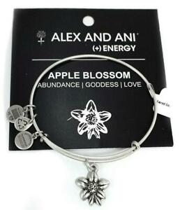 d5f5646325a24 Details about Alex and Ani Apple Blossom Bracelet, Silver; NEW RETIRED item