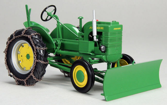 John Deere W  Snowblade And Chains Vintage Tractor 1 16 Model SPECCAST