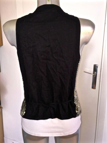 Size Gilet 3 Sandro con Condition Excellent paillettes lussuoso in metallo AqYwnqpF47