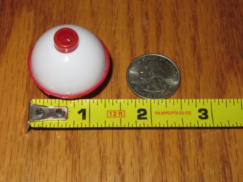 200 1.25 FISHING BOBBERS Round Floats Red / White SNAP ON FLOAT Bulk Pack