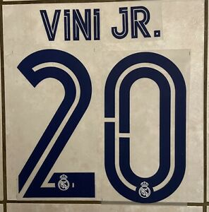 Flocage Nameset Vinicius JR #20 Real Madrid 2020-2021 Domicile Home.