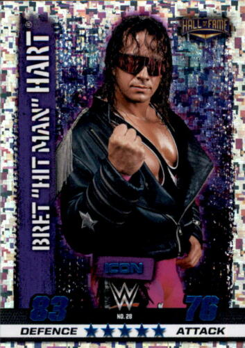 Hitman 10th Edition-Nº 28-Bret Hart-Icon Wwe Slam Attax
