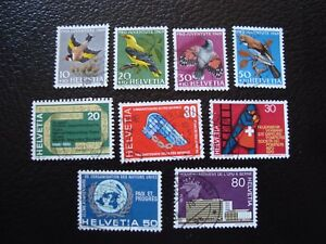 SUISSE-timbre-yvert-et-tellier-n-846-a-854-obl-A2-stamp-switzerland-I