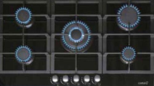 Gas Kochfeld Cata LCI  941BK 87,4 cm Autark WOK Gas auf Glas Kochmulde+Propangas