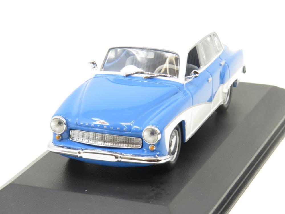 Minichamps 430 015900 Wartburg A 312 Saloon Blau 1 43 Maßstab Verpackt