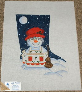 image is loading mrs snowman w holly apron handpainted needlepoint christmas