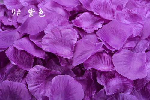 2000pcs Various Colors Silk Flower Rose Petals Wedding Party Decorations