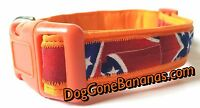 Dukes Of Hazzard Inspired Dog Collar With Separate Leash Option, Handmade