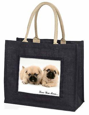 pugzu Hund' Liebe, die sie Mama' große schwarze Einkaufstasche WEIHNACHTEN