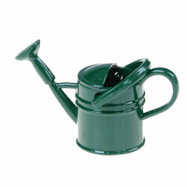 1:12 Scale Metal Watering Can Doll House Miniature Garden AccessoryRI