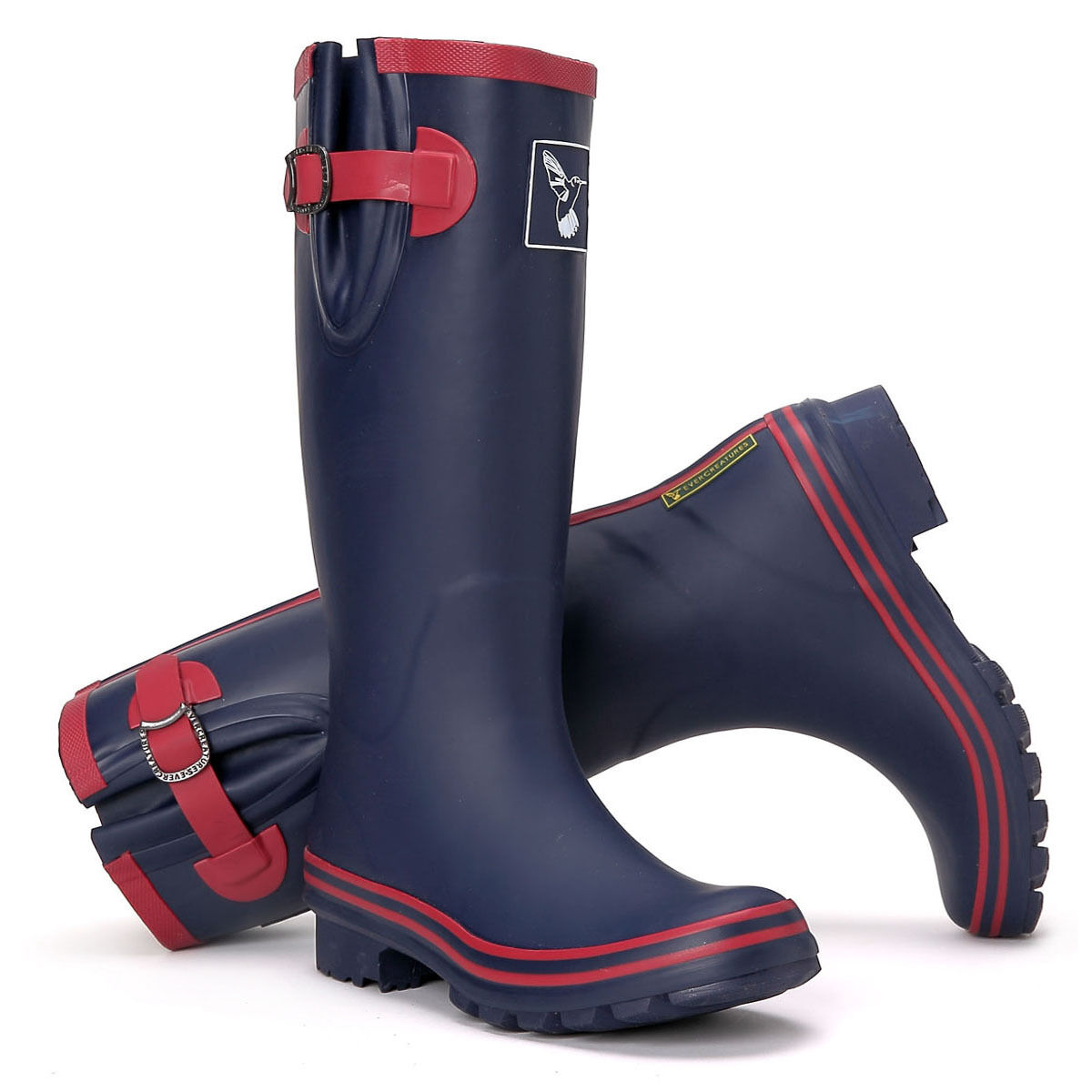 Evercreatures UK Brand Boot Fashion Women's bluee Rain Boots Rubber Boots Wellies