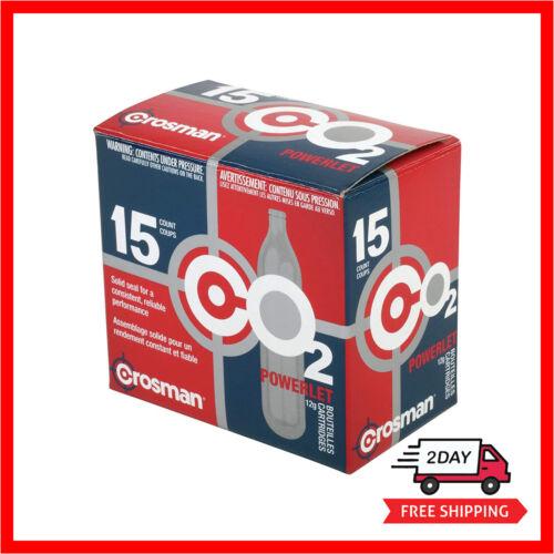 15 pc Crosman 12 gram CO2 Powerlet Cartridges For Air Rifles Air Pistols Air Gun