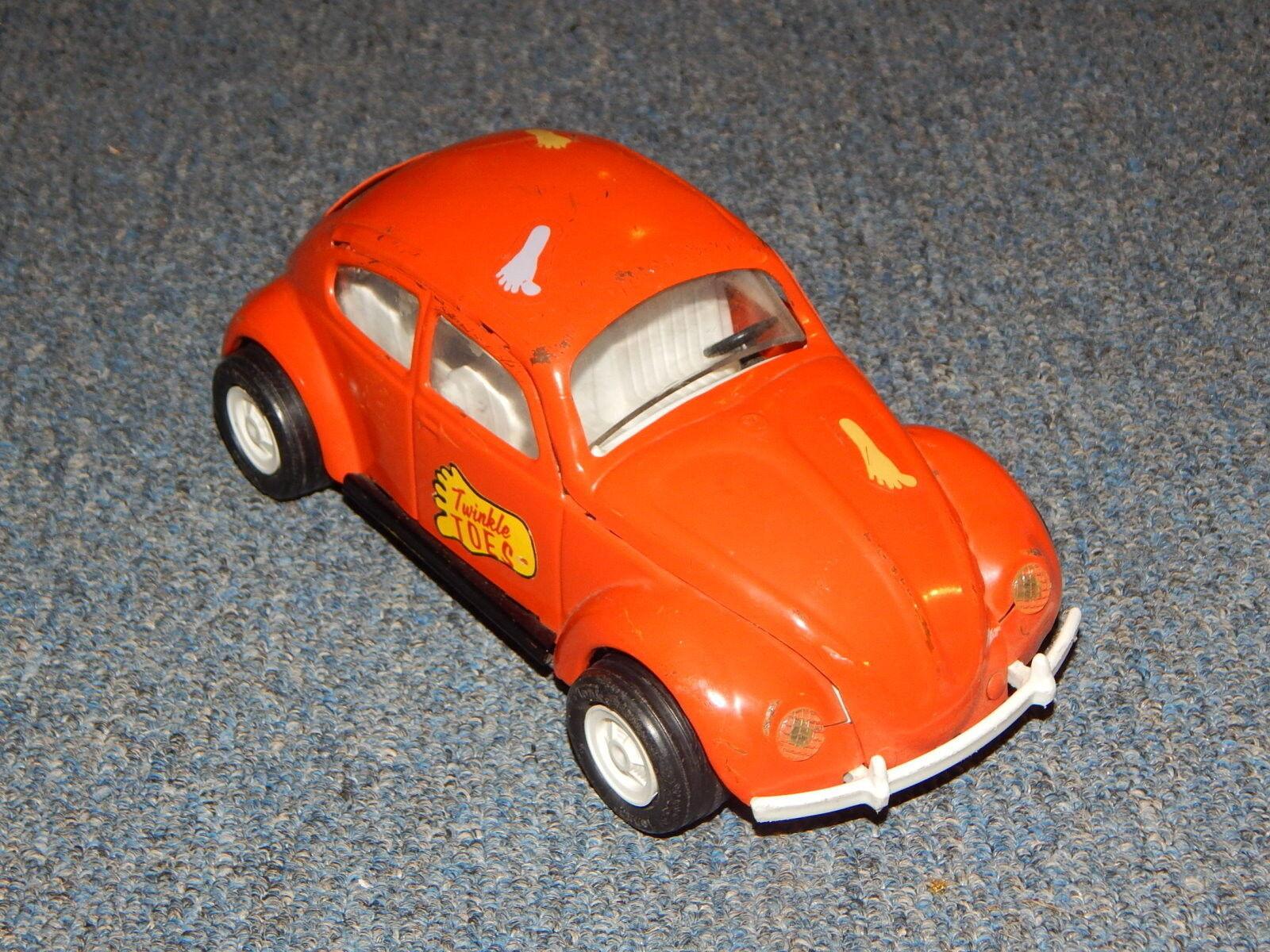 Vintage Tonka Chapa De Acero Negro Volkswagon  52680 Twinkle Toes R19443