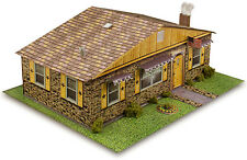 "BK 4812 1:48 Scale ""Sandstone Brick Rambler House"" Photo Real Scale Building Kit"