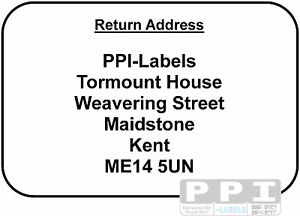return address labels black red blue green text sticky adhesive