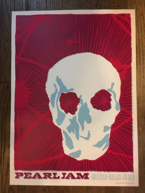 PEARL JAM POSTER 6/9/2003 TOUR  AMES BROS DALLAS TX EDDIE VEDDER