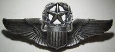 "WW2 AAF Sterling Command Pilot Wings - Robbins Co Flying ""R"" Hallmark - CB"
