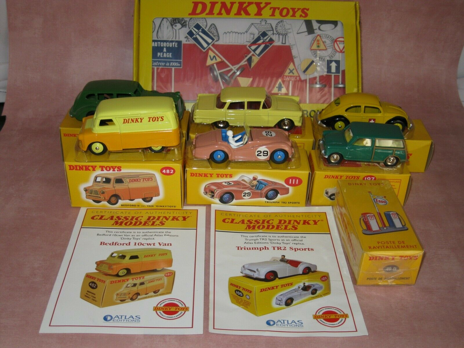 Atlas Dinky Toys Job lot of 8 items - unused - boxed