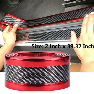 Details about Car Sticker 5D Carbon Fiber Molding Threshold Rubber Protector Parts Accessories