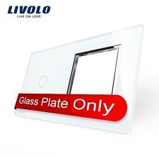 Original LIVOLO Glasrahmen für 1 Gang Touch Lichtschalter + Steckdose Weiß