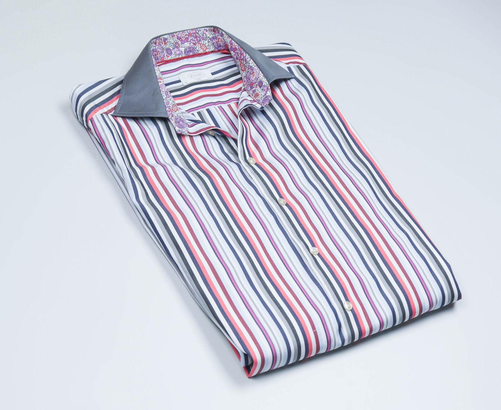 ETON  Men's Striped long sleeved Shirt Size 40 - 15 3 4 FREE UK P&P