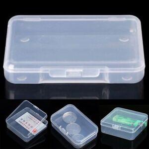 5 stücke Klar Transparent Aufbewahrungsbox Sammlung Container Fall Teil Box