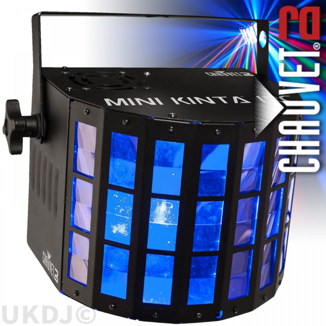 Chauvet DJ Mini Kinta IRC LED RGBW DMX Sound Activated Derby Lighting Effect
