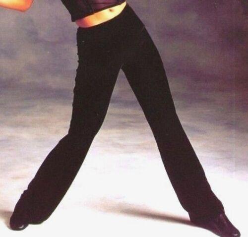 NWT Black Velvet Spandex Bootcut Jazz Pants Dance Plush  Ladies WolffFording